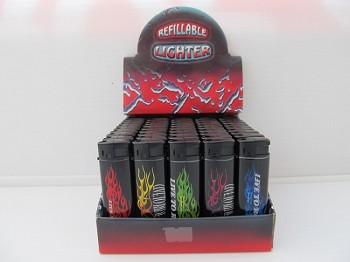 Refillable Lighters With Different Designs 50ct