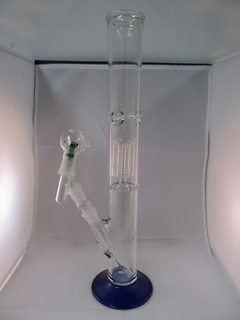 "22"" 1 PERC BLUE Base Water Pipe W/ Concentrate Kit"