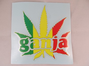 Sticker: Ganja Rasta Leaf