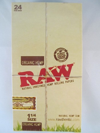 Raw Organic Hemp 1-1/4 Rolling Papers 24 booklets