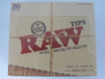 Raw Unbleached Pre-Rolled Tips 20ct