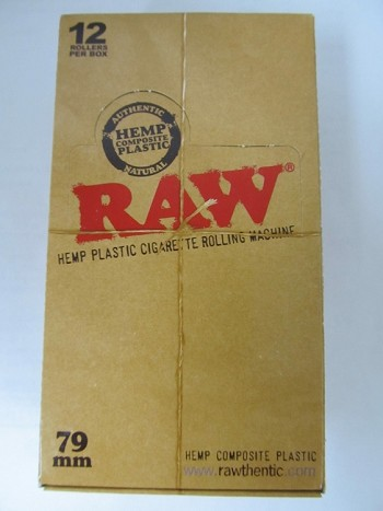 Raw Hemp Plastic Cigarette Rolling Machine 79mm 12ct