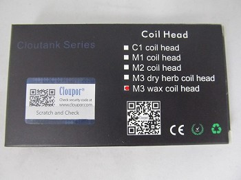 Cloutank M3 Wax Coil Head For Cloupor Tank 10ct