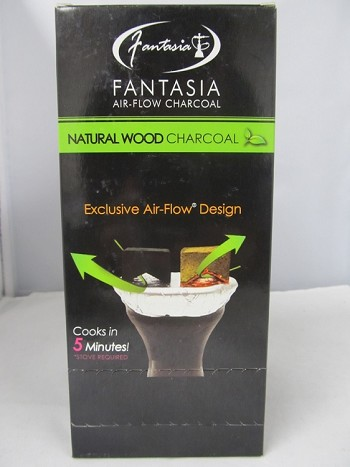 Fantasia Natural Wood Charcoal 10pack Display