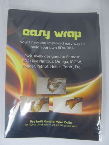 Easy Wrap Pre-Built Kanthal Wire Coils w/Organic Cotton