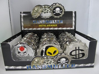 Chain Link 3 Part Grinder Mix Designs 12ct Display