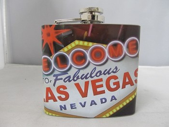 6oz Stainless Steel Flask w/ Las Vegas Sign 8ct Display