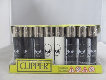 Clipper Refillable Lighter Skulls #2 48ct Display