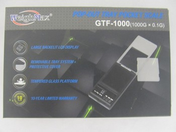 Weigh Max W-GTF 1000g 0.1g Glass Platform