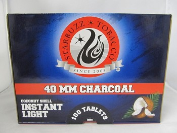 Starbuzz Premium Coconut Instant Light Charcoal 40mm 100 Tablets