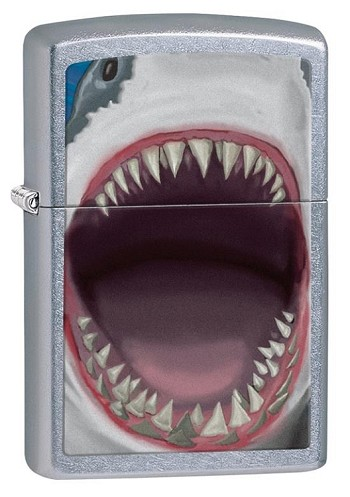 Zippo: Shark Teeth Street Chrome # 28463