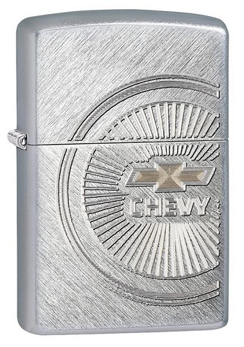Zippo: Chevy Round Emblem Silver # 28423