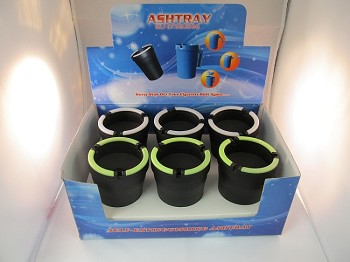 Self Extinguishing Car Ashtrays 6CT Display