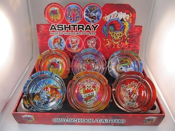 Tattoos Large Ashtrays 6CT Display
