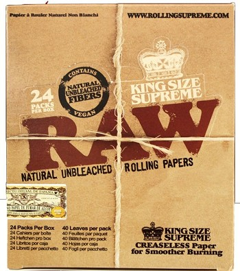Raw King Size Supreme Paper 24 booklets
